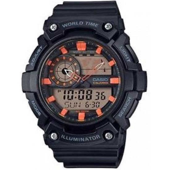 Ceas Barbati ILLUMINATOR WORLD TIME 5 ALARMS AEQ-200W-1A2