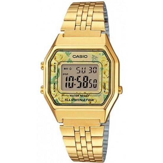 Ceas Dama CASIO VINTAGE LADY GOLD FLOWERS LA-680WGA-9C