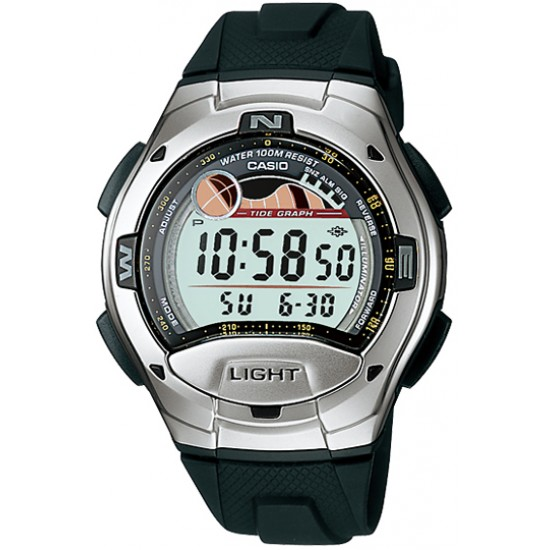 Ceas Barbati CASIO SPORT COLLECTION Moon Phases, Tide Graph, Yacht Timer, 2 Time Zone, Alarm W-753-1A