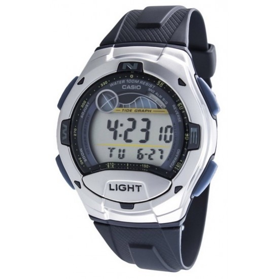 Ceas Barbati CASIO SPORT COLLECTION Moon Phases, Tide Graph, Yacht Timer, 2 Time Zone, Alarm W-753-2