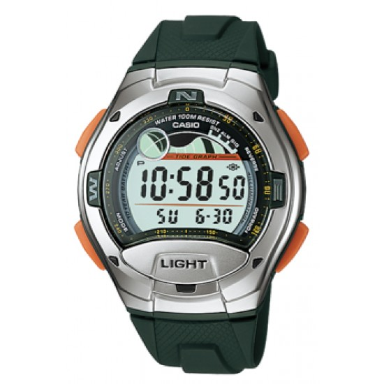 Ceas Barbati CASIO SPORT COLLECTION Moon Phases, Tide Graph, Yacht Timer, 2 Time Zone, Alarm W-753-3A