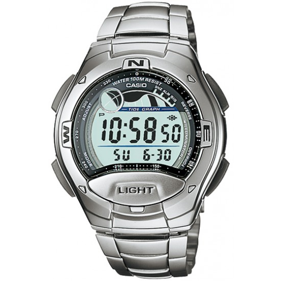 Ceas Barbati CASIO SPORT COLLECTION Moon Phases, Tide Graph, Yacht Timer, 2 Time Zone, Alarm W-753D-1A