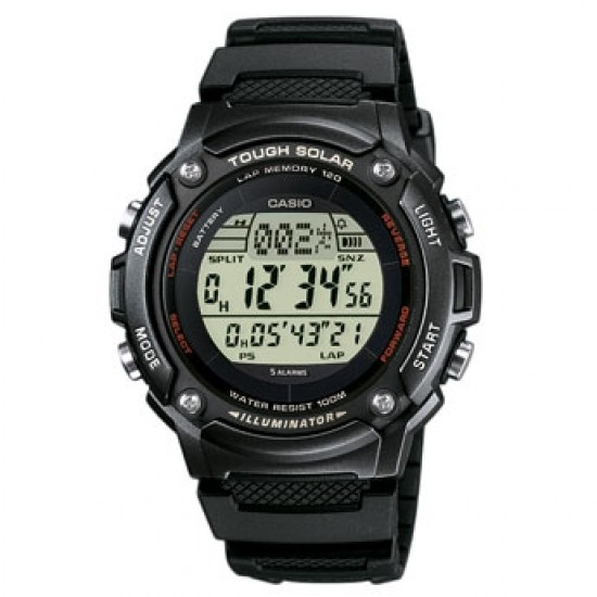 Ceas Barbati CASIO SPORT TOUGH SOLAR Stopwatch World time, 5 alarms, LED backlight W-S200H-1B